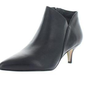 Sam Edelman Kadison Black Leather Booties Heels 7